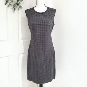 PESERICO Italian Made Sheath Houndstooth Dress